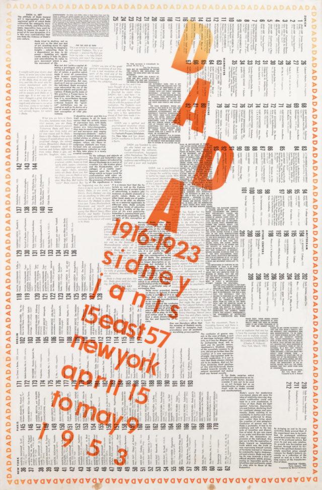 Marcel Duchamp, Dada Catalogue Poster