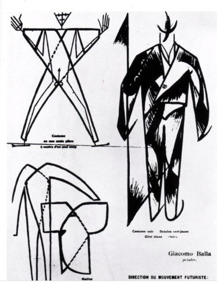 Fashion diagram of new Futurist costumes